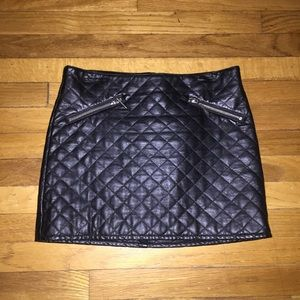 H&M vegan leather mini skirt